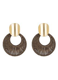 Club Manhattan - Earrings Woven - Brown Gold