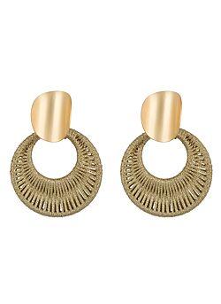 Club Manhattan - Earrings Woven - Light Gold