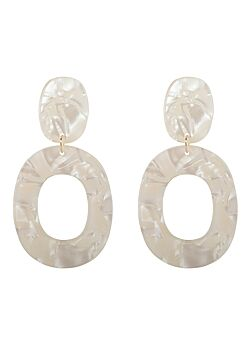 Club Manhattan - Earrings Pearly - White