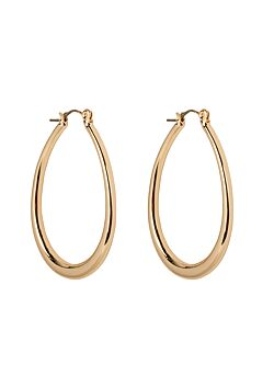 Club Manhattan - Earrings Oval Hoops - Gold