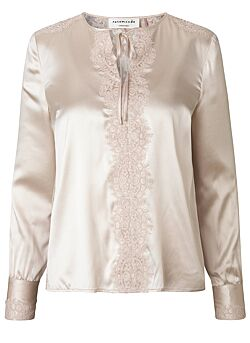 Rosemunde - Blouse Long Sleeves - Beige