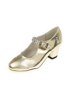 Schoentjes hoge hak Sabine, goud, maat 30