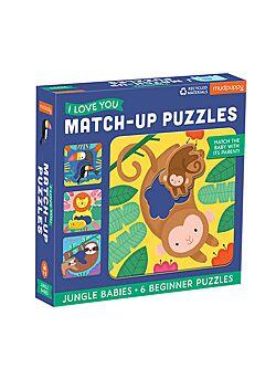 Baby Puzzel Djungel Babies - 6 puzzels met 2 stukken