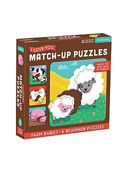 Baby Puzzel Boerderij Babies - 6 puzzels met 2 stukken