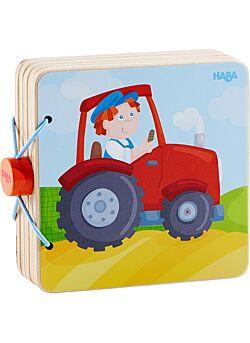 Houten babyboek Tractor