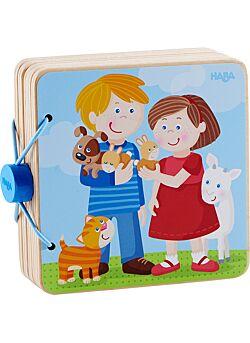 Houten babyboek Dierenkinderen