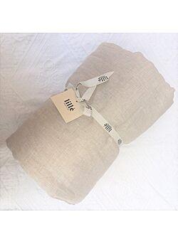 LILLE: linnen deken met vulling en kussentje : naturel