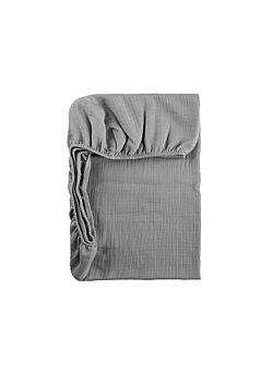 LILLE: tetra onderlaken voor mozesmand, of buggy: clear grey