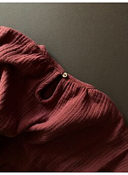 LILLE: tetra blouse carmen: auburn