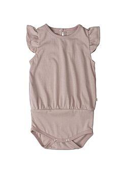 Minimalisma: t-shirt body met vlindermouwen: pippi: dusty rose