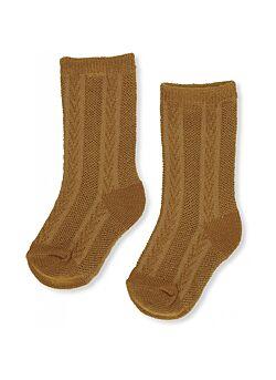 Konges Slojd: sock pointelle: dark honey