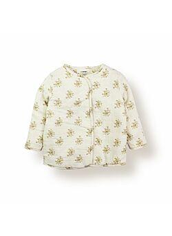 LEBOME: jasje: fleurs beige