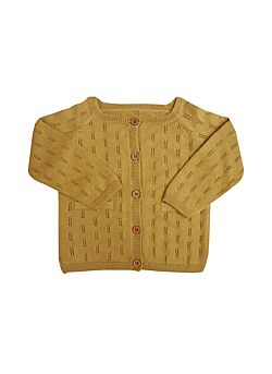 La petite collection: katoenen knit cardigan: brass