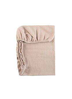 LILLE: tetra onderlaken voor mozesmand, of buggy: beige