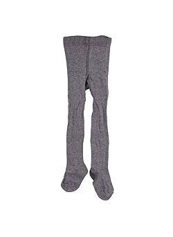 broekkousen van KRUTTER: grey melange-ribbed tights