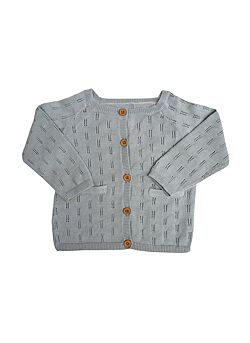 La petite collection: katoenen knit cardigan: grey