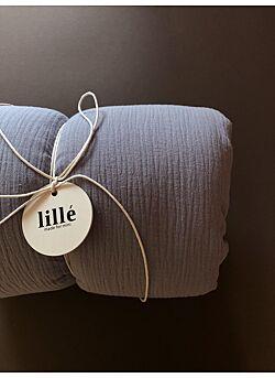 LILLE: tetra deken met vulling en kussentje : clear grey