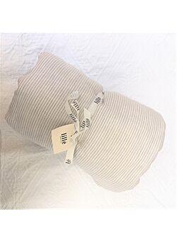 LILLE: linnen deken met vulling en kussentje : beige stripes