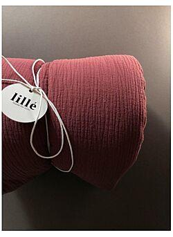 LILLE: tetra deken met vulling en kussentje :auburn