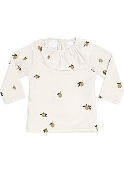 Konges sjold: UV zwem shirt: ruffle: lemon: swimwear - 50/56