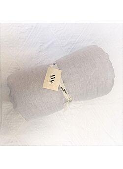 LILLE: linnen deken met vulling en kussentje : grey stripes
