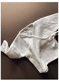 LILLE: overslagshirt in hydrofiele stof : cream