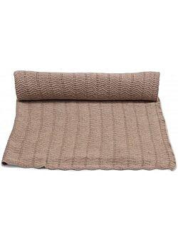 deken van konges slojd in een pointelle -steek: brown melange