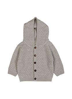 hoodie jasje van FUB (dikke gilet met gevoerde kap): grijs
