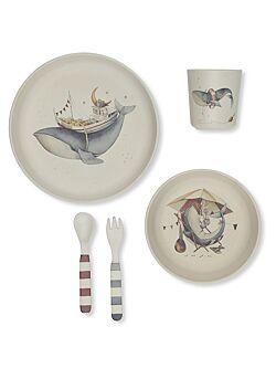 konges slojd: dinner set: whale