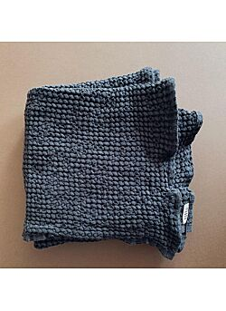 LILLE: waffle blanket: charcoal