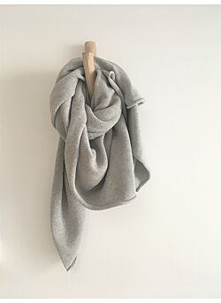 play up- deken in 100% organisch katoen : grey melange