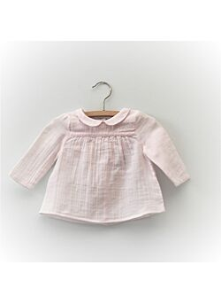 CYRILLUS Paris-powder pink muslin blouse