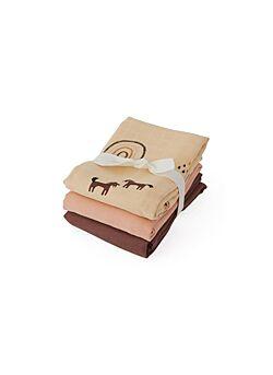 Oyoy: 3-pack muslin doeken: rainbow