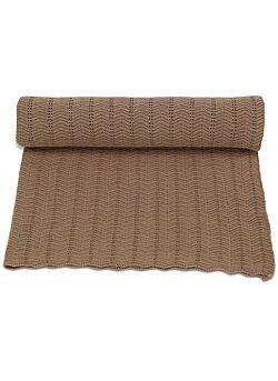 deken van konges slojd in een pointelle -steek: sahara
