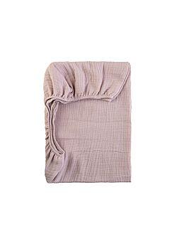 LILLE: tetra onderlaken voor mozes mand of buggy: dusty pink