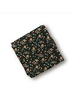 LEBOME: maxi-tetradoek: 120 x 120: fleurs verts