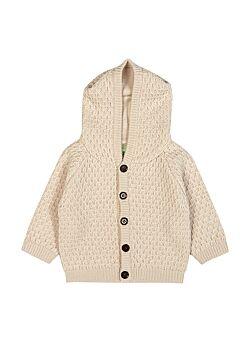 hoodie jasje van FUB (dikke gilet met gevoerde kap): ecru