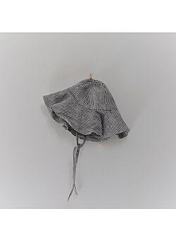 LILLE: linnen zomerhoedje: graphite stripes