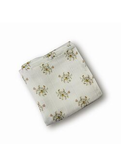 LEBOME: maxi-tetradoek: 120 x 120: fleurs beige