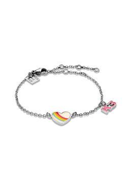 Collection K3, bracelet avec coeur en arc-en-ciel et K3