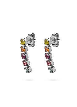 Collection K3, boucles d'oreilles, 5 pierres colorés