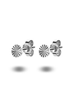 oorbellen in zilver, rondje van 6 mm