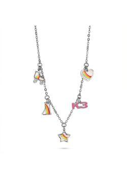 Collection K3, collier avec patin à roulettes, robe, coeur, étoile et K3