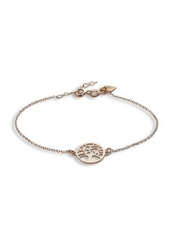 Armband in rosé zilver, levensboom