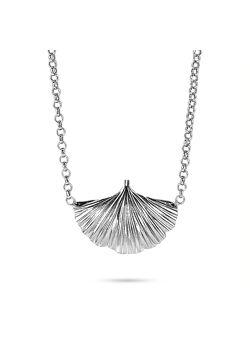 Halsketting in zilver, gingko biloba