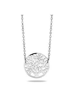halsketting in edelstaal, levensboom motief