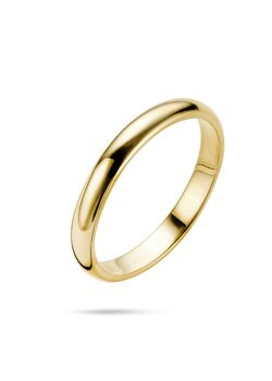 Ring in 18kt plaqué goud, trouwring 3 mm