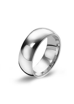Ring in edelstaal, brede ring, 7 mm