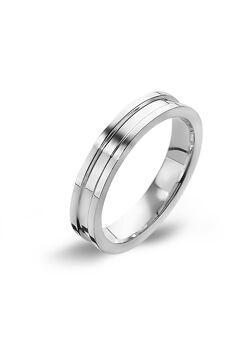 Ring in edelstaal, 3 mm, gestreept