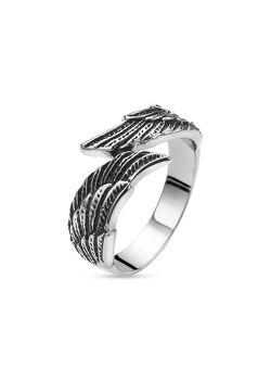 ring in edelstaal, vleugels